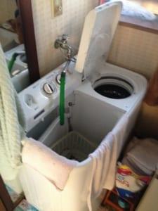 常陸大宮市洗濯水漏れ