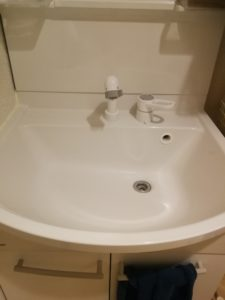 水戸市の洗面蛇口水漏れ