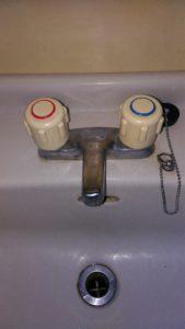 白河市の洗面水漏れ