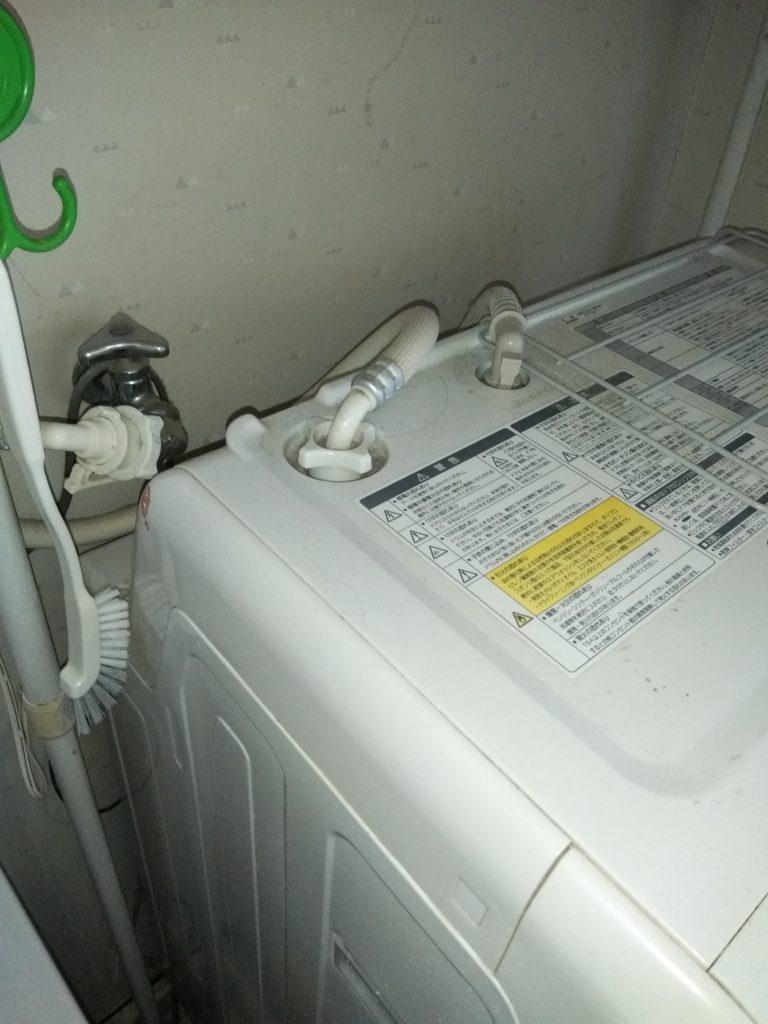 洗濯排水の異物