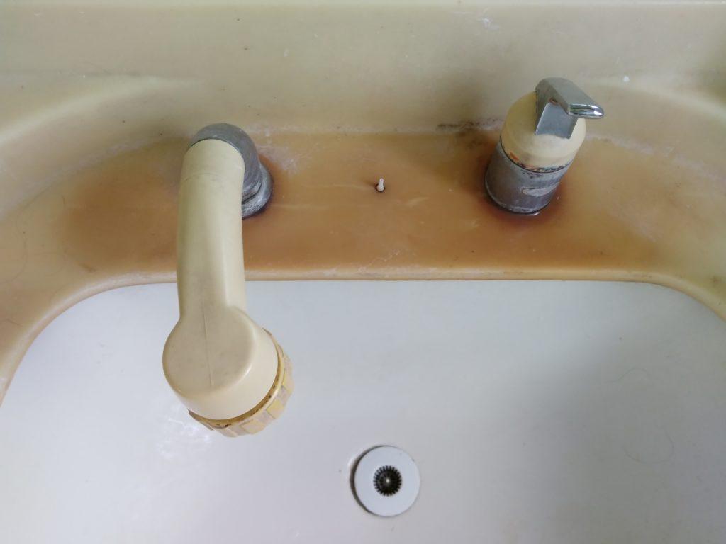 洗面台の異物除去