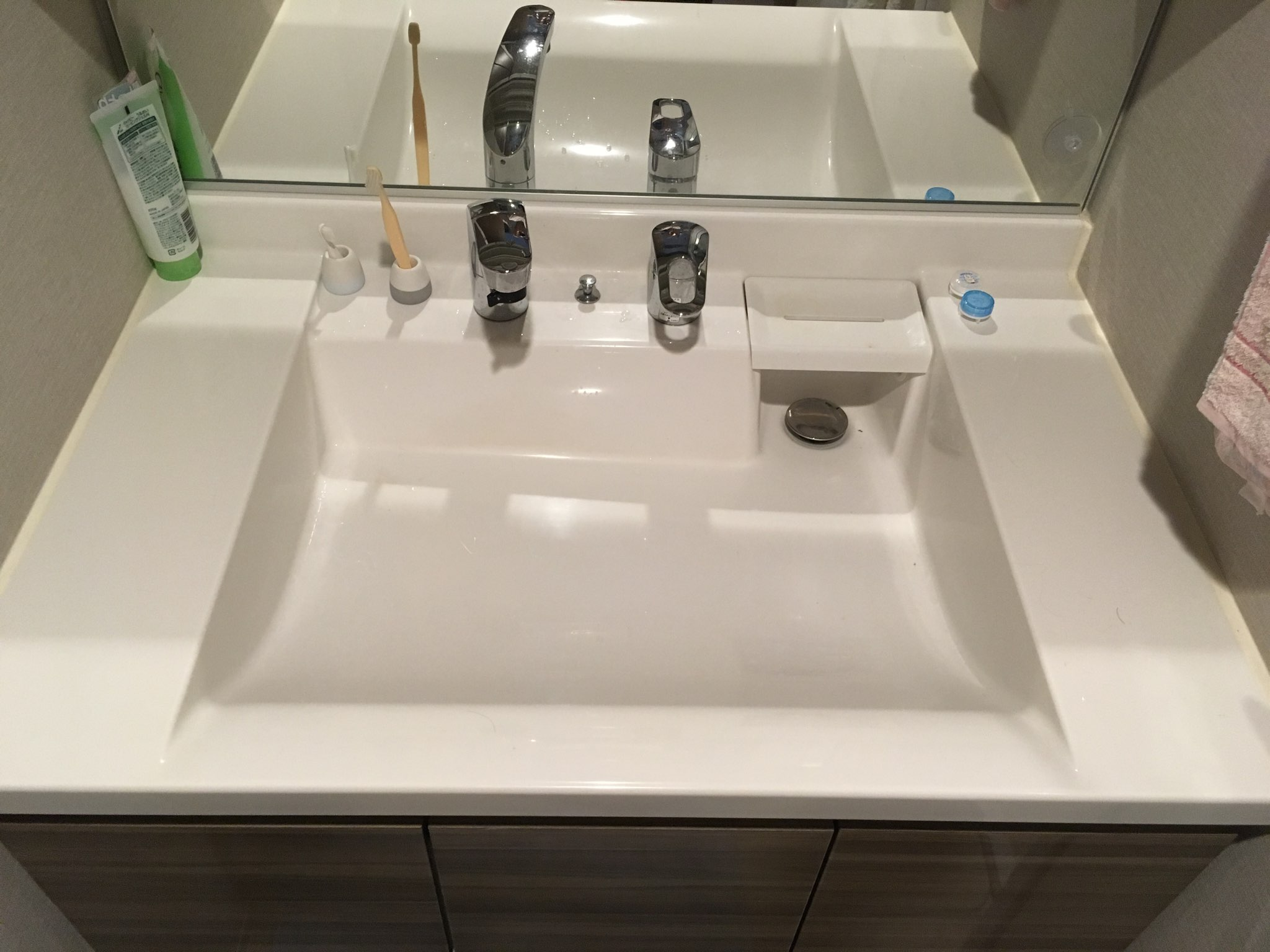 鏡石町の洗面水漏れ