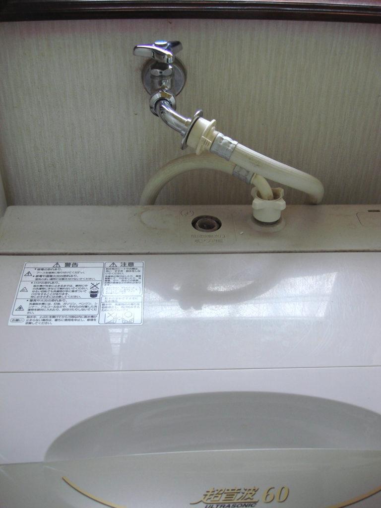 洗濯機の水漏れ発生