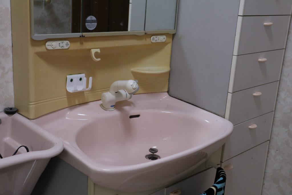 K様宅洗面の水漏れ
