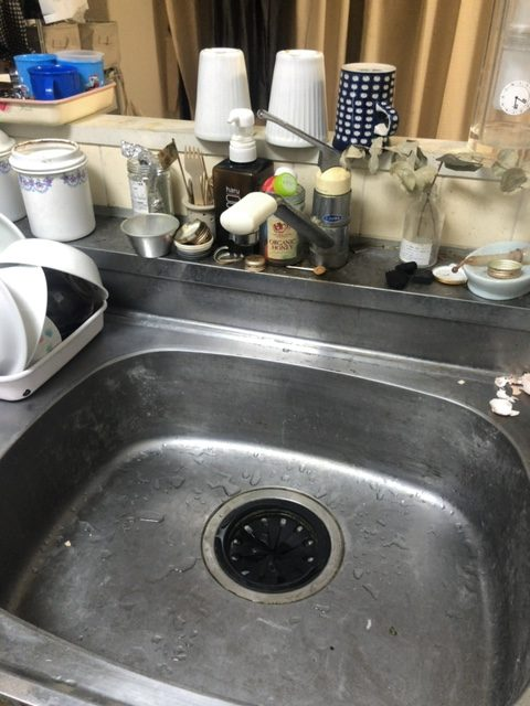喜多方市でキッチンの蛇口水漏れ修理の施工事例