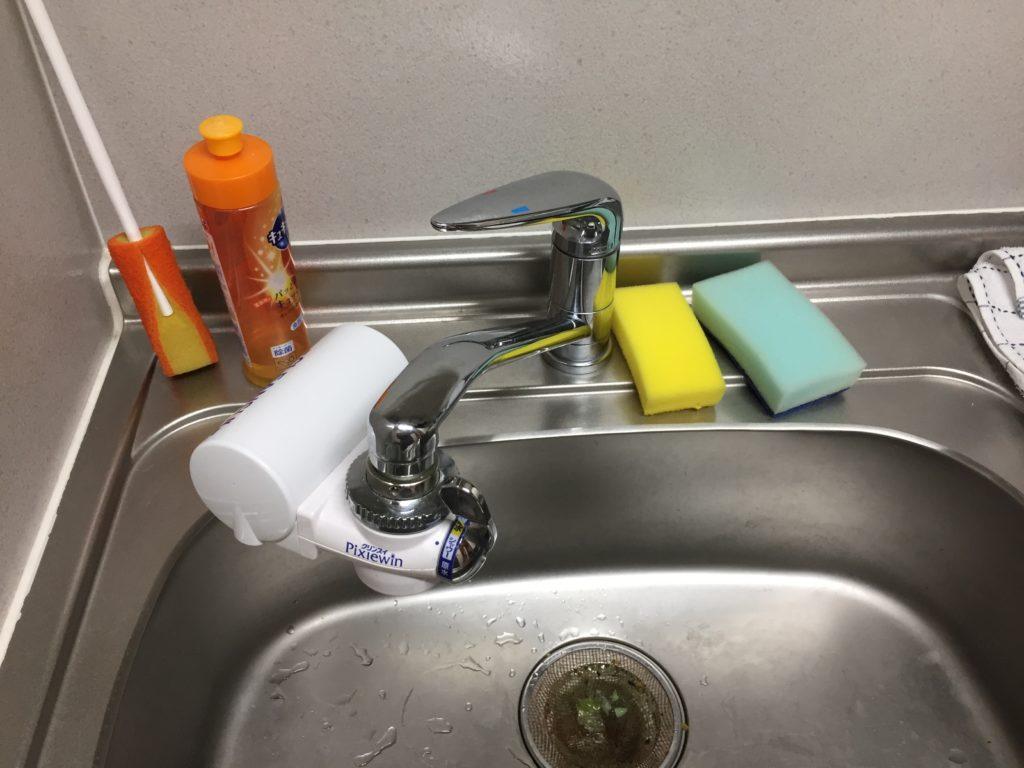 いわき市で台所の排水が詰まったとの事でお伺いしました。