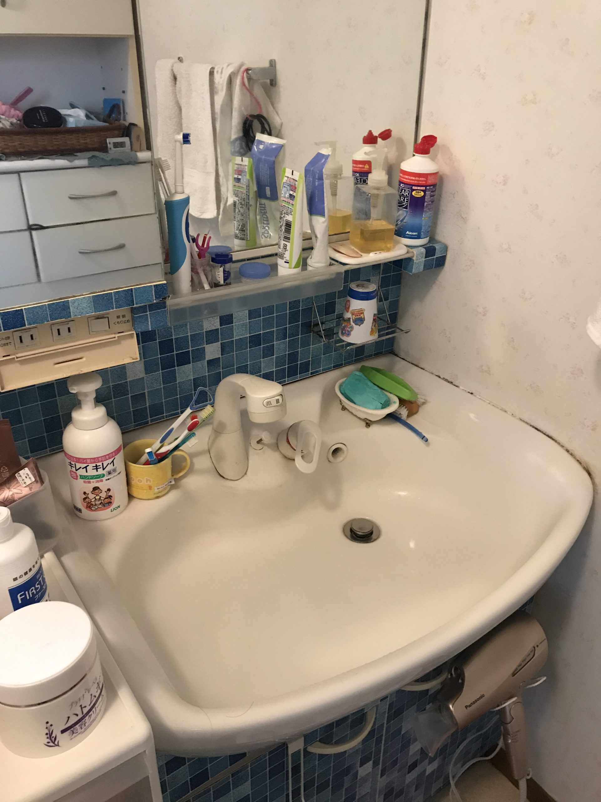 洗面蛇口水漏れ