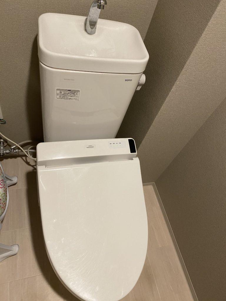 郡山市でトイレの水漏れ修理をしました。