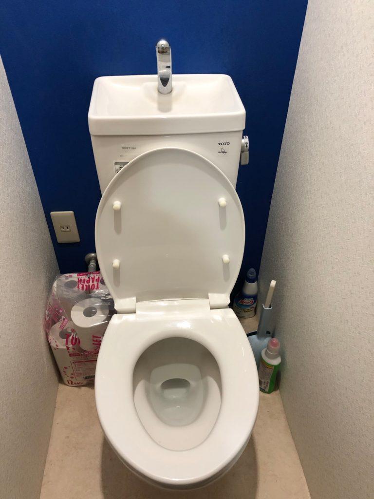 本宮市でトイレ詰まり修理を行いました。