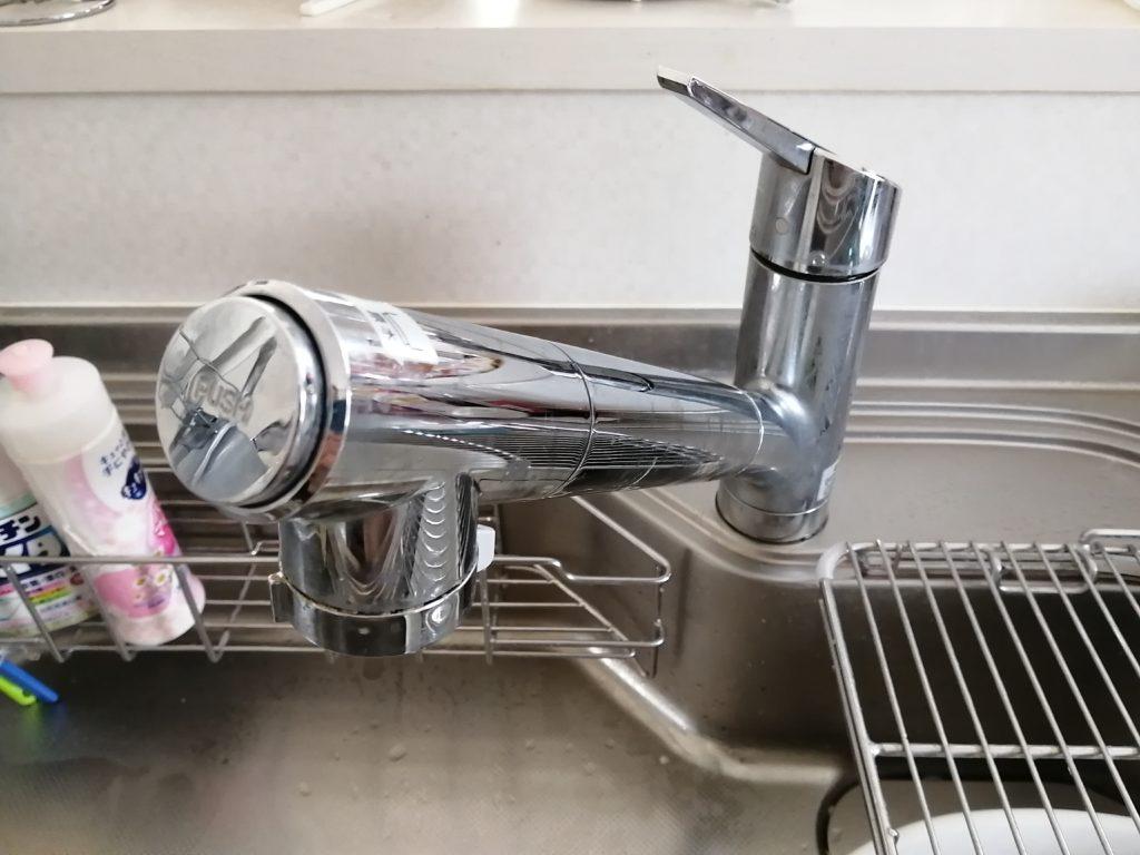 郡山市で台所の蛇口水漏れ修理でお伺いしました。