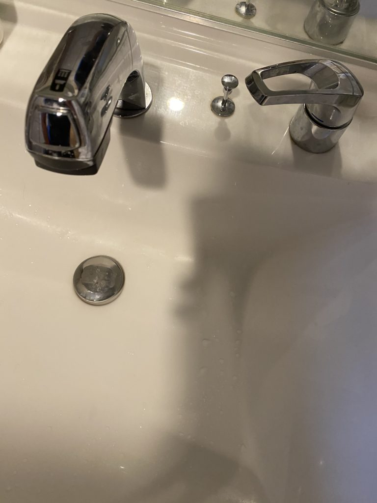 喜多方市で洗面排水水漏れ修理の施工事例