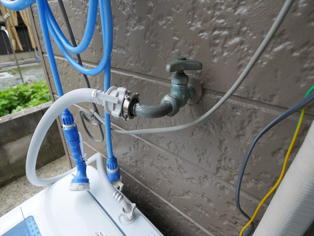 洗濯蛇口の水漏れ