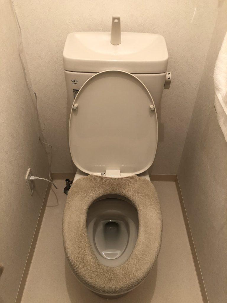 福島市でトイレでチョロチョロする水漏れ修理を行いました。