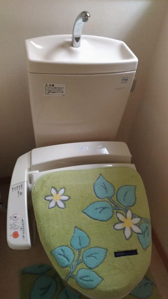 福島市でトイレの水漏れ修理を行いました。
