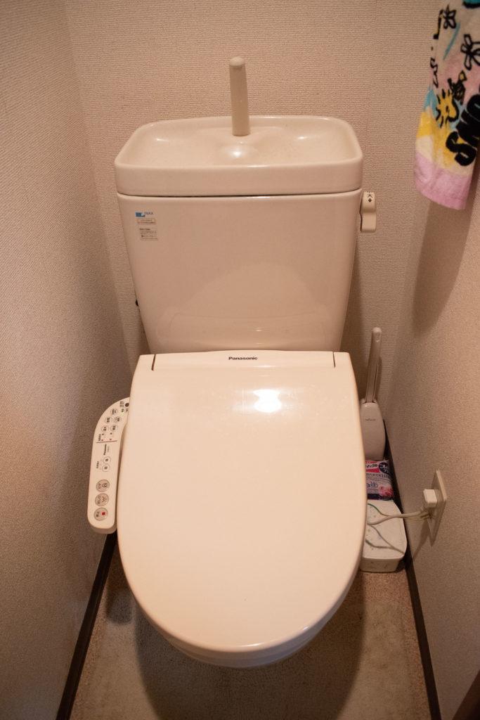 相馬市でウォシュレットの水漏れ修理を行いました。