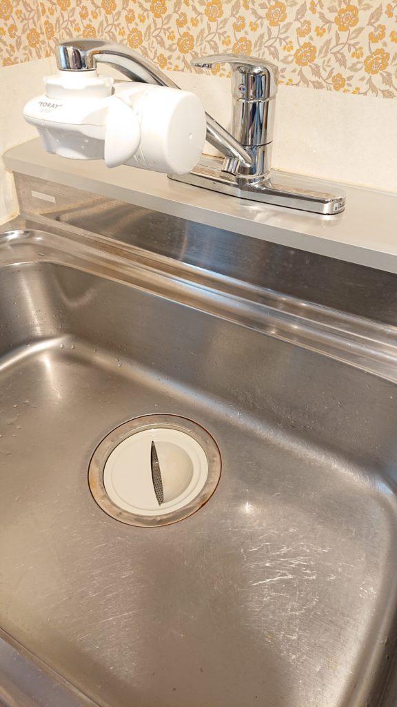 郡山市で台所排水つまり修理を行いました。