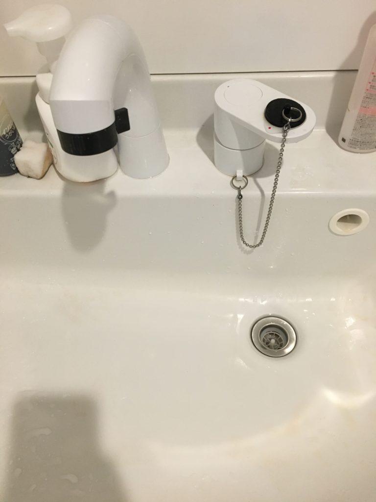 福島県西白河郡で洗面水栓の水漏れ修理事例