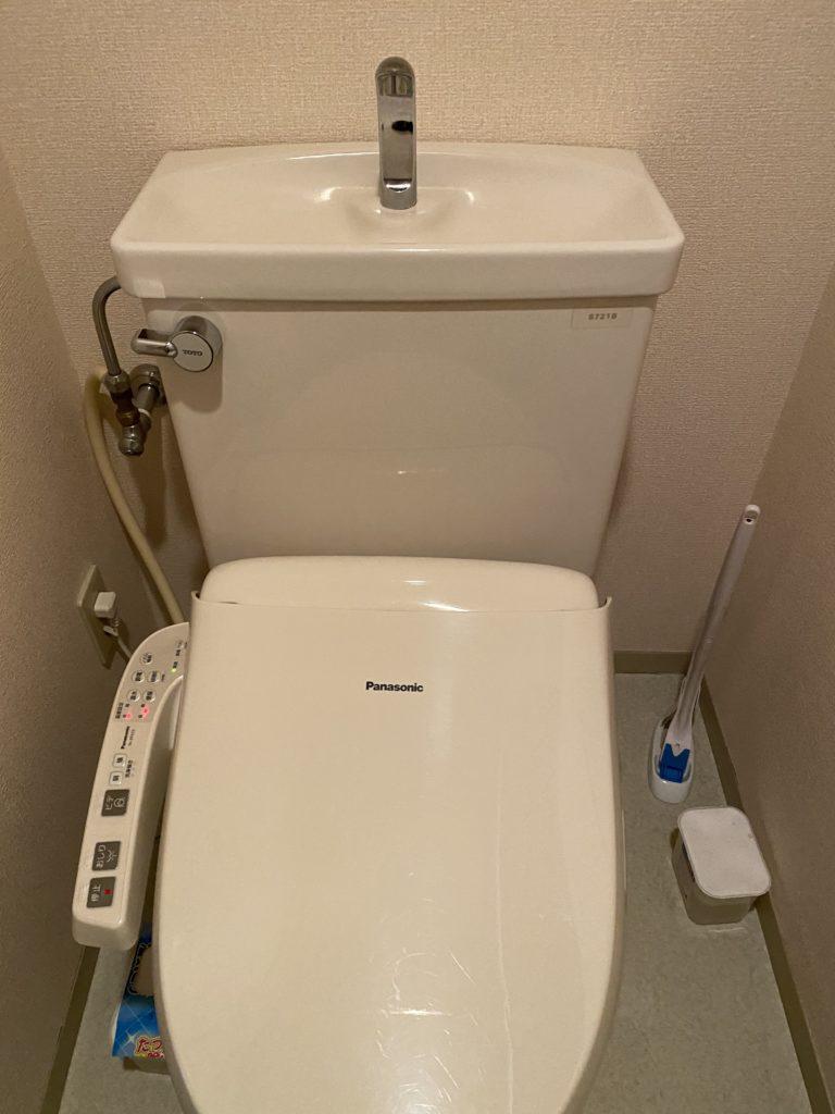 福島県いわき市東田町にてトイレ水漏れ修理作業