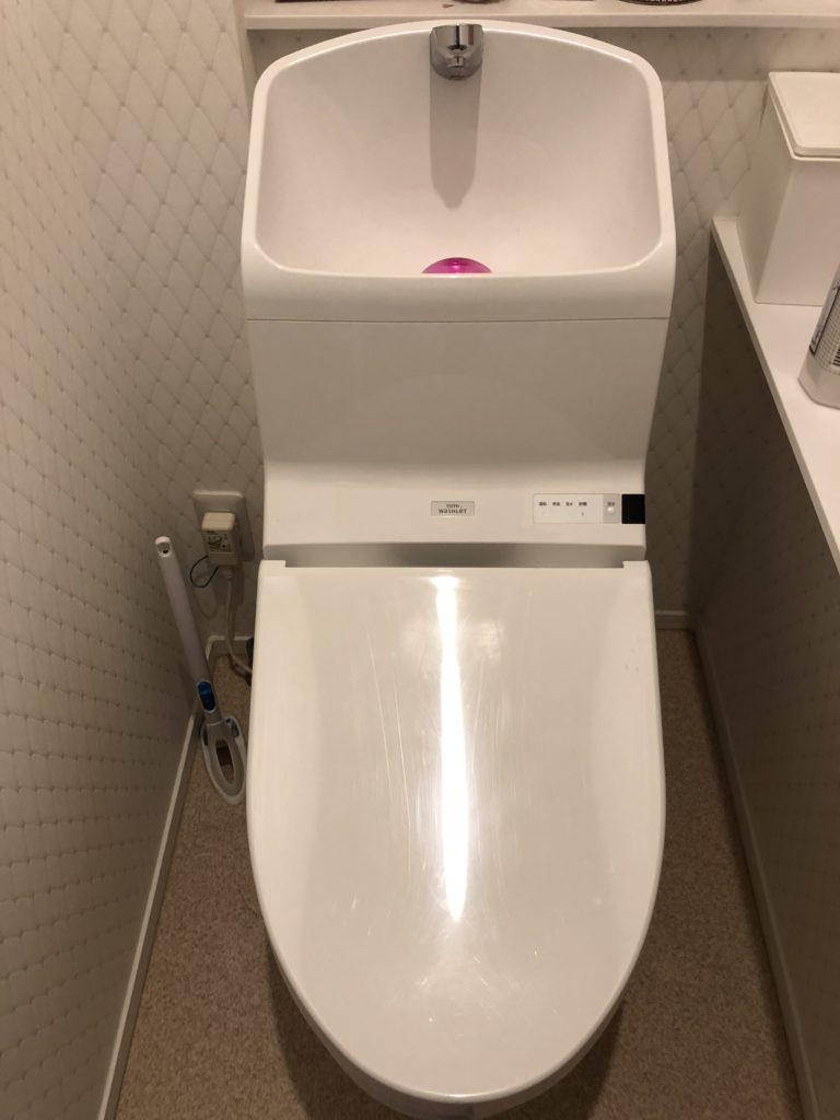 福島県二本松市でトイレタンクの部品交換作業