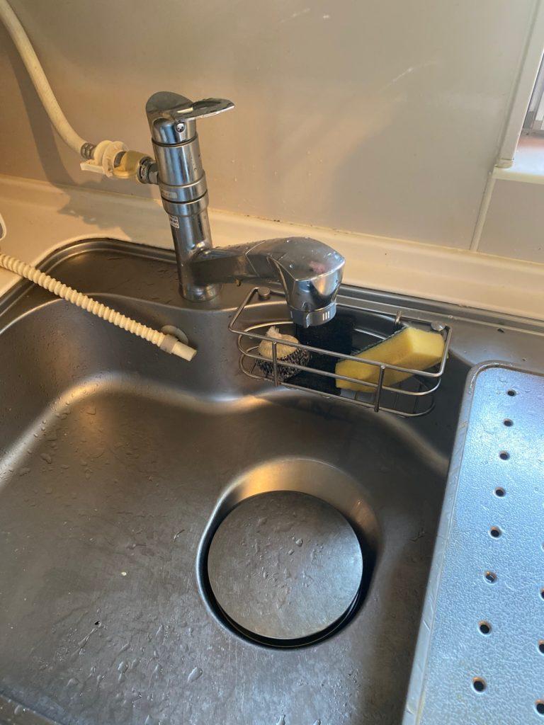大沼郡昭和村松山で台所蛇口水漏れ修理作業事例