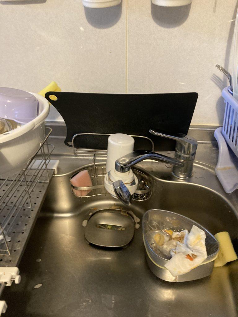 福島県伊達市で台所水漏れ修理を行いました。